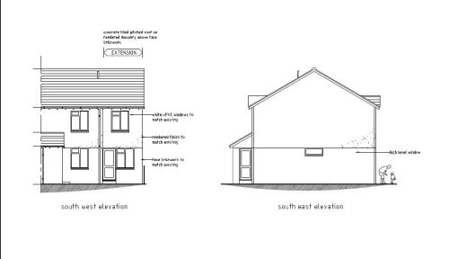 extension to semi-detached house